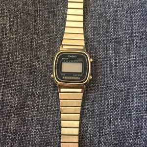 Casio black and gold vintage watch